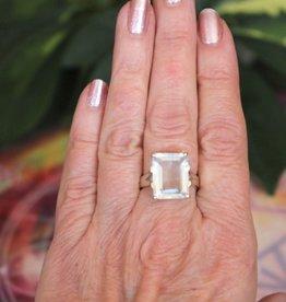 White Aquamarine Rings for truth