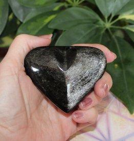 Obsidian Heart Silver Sheen ~ Mexico