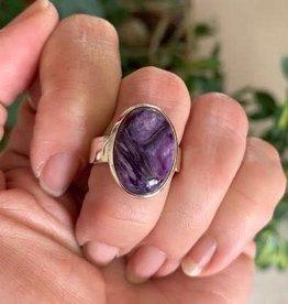 Charoite Rings for spiritual evolution