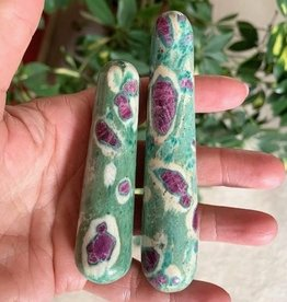 Ruby Fuchsite Wands for passion and life force energy