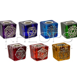 Chakra Colour Candle Holder with Chakra Symbol