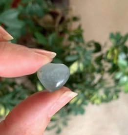 Lemurian Aquatine Calcite Mini Hearts for peace and compassion