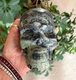 Kambaba Jasper Skull for powerful ancient wisdom