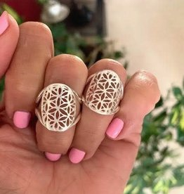 Flower of Life Ring for powerful ancient wisdom