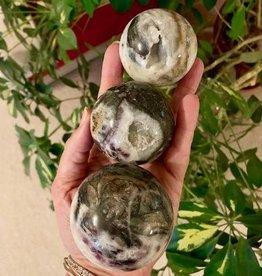 Sphalerite with Fluorite Spheres