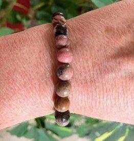 Crystal Bracelet -  Rhodonite