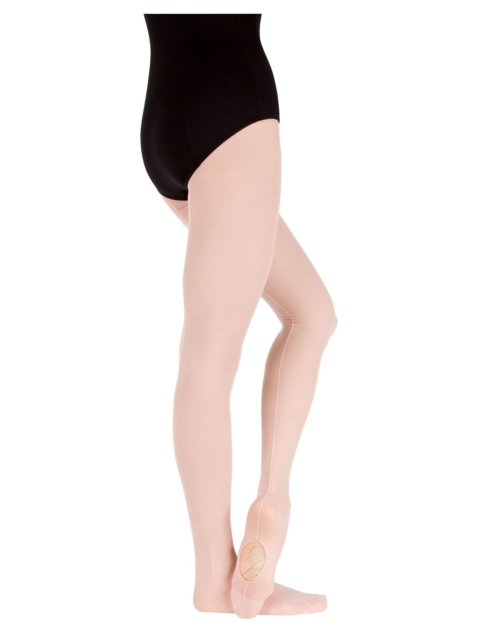 Body Wrappers TotalSTRETCH Sheer Weight Mesh Backseam Tights (A46)