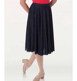 Body Wrappers Dance Fever Below-The-Knee Circle Skirt (0511)