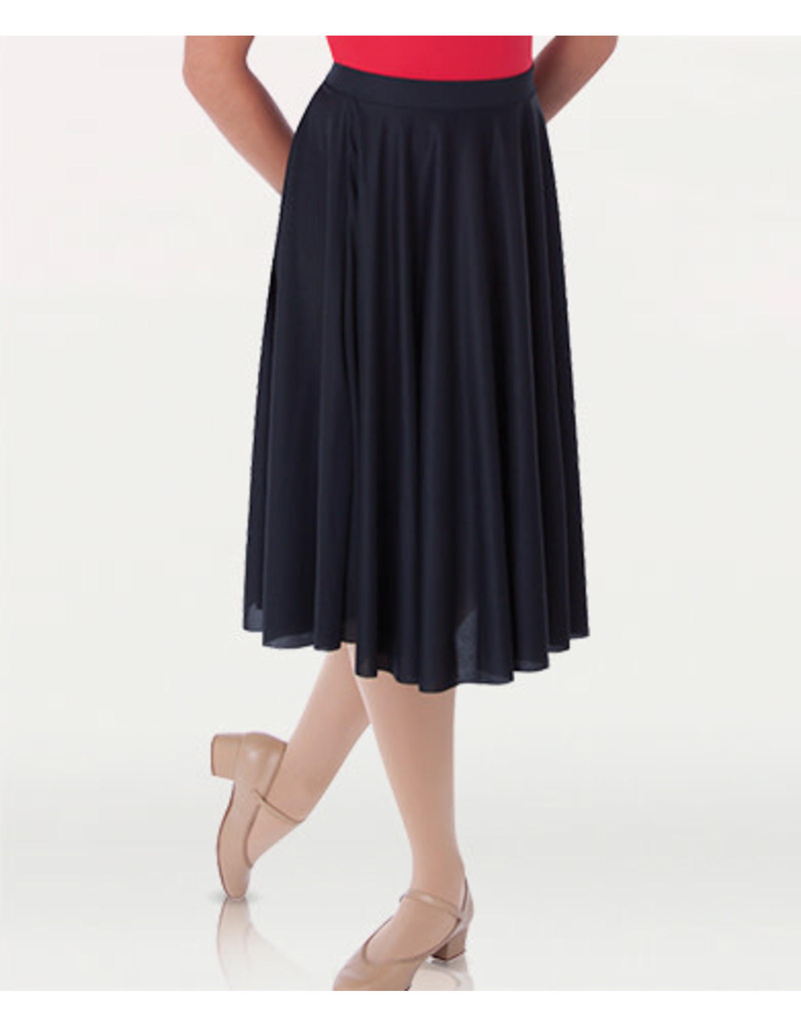 Body Wrappers Dance Below-The-Knee Circle Skirt (511)