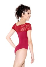 So Danca So Danca Matilda - Adult Cap Sleeve Leotard with Lace Neckline (SL16)
