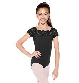 So Danca So Danca Tilly - Child Cap Sleeve Leotard with Lace Neckline (SL17)