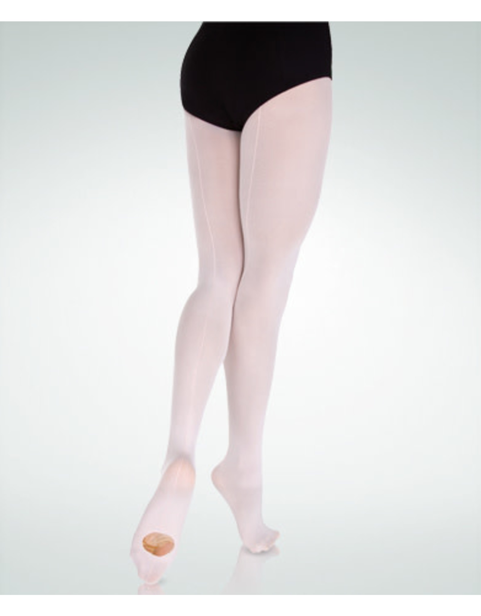 Body Wrappers Ultrasoft Microfiber Backseam Convertible Tights (A39)