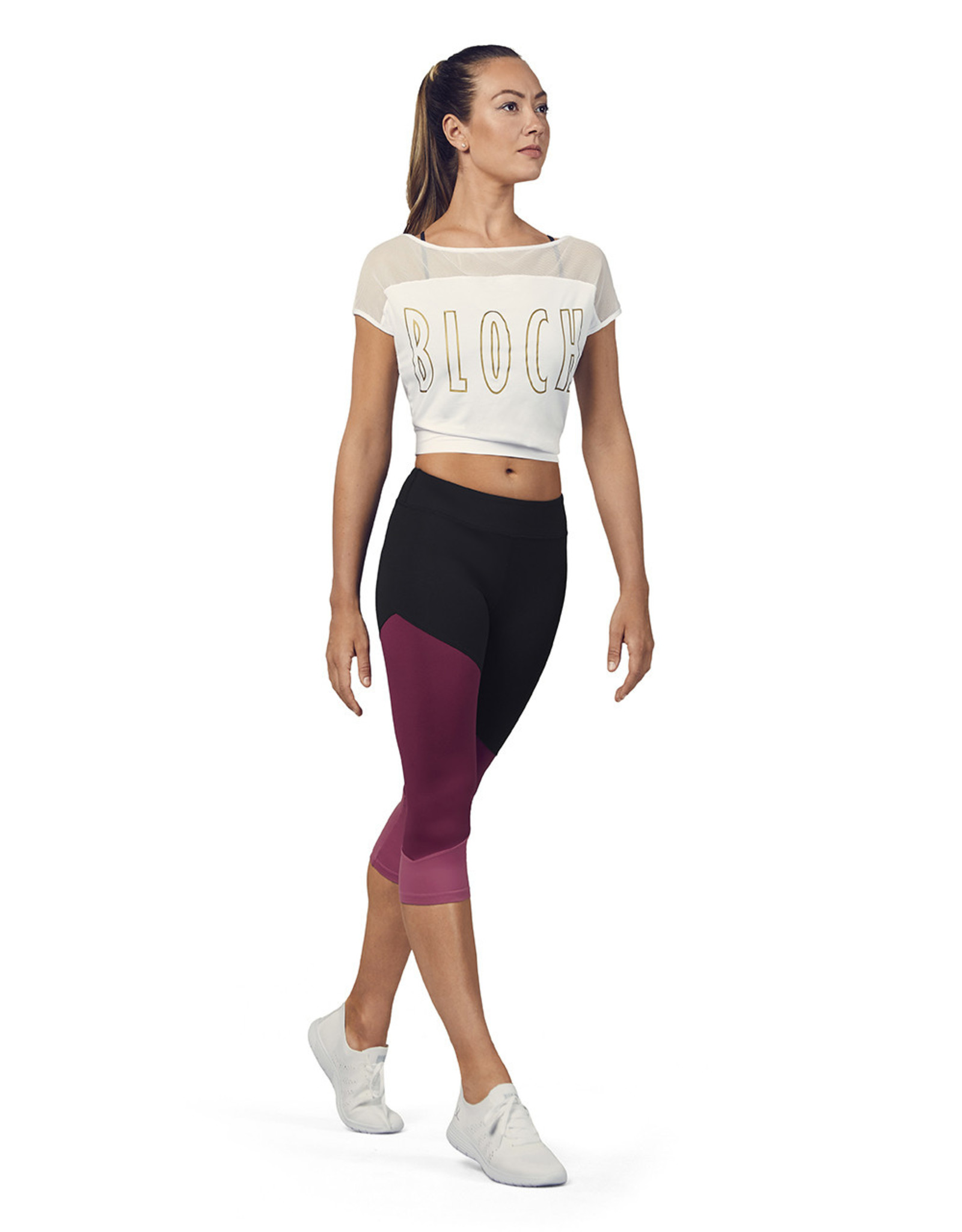 Bloch / Mirella Logo Crop Mesh Tee (FT5206)