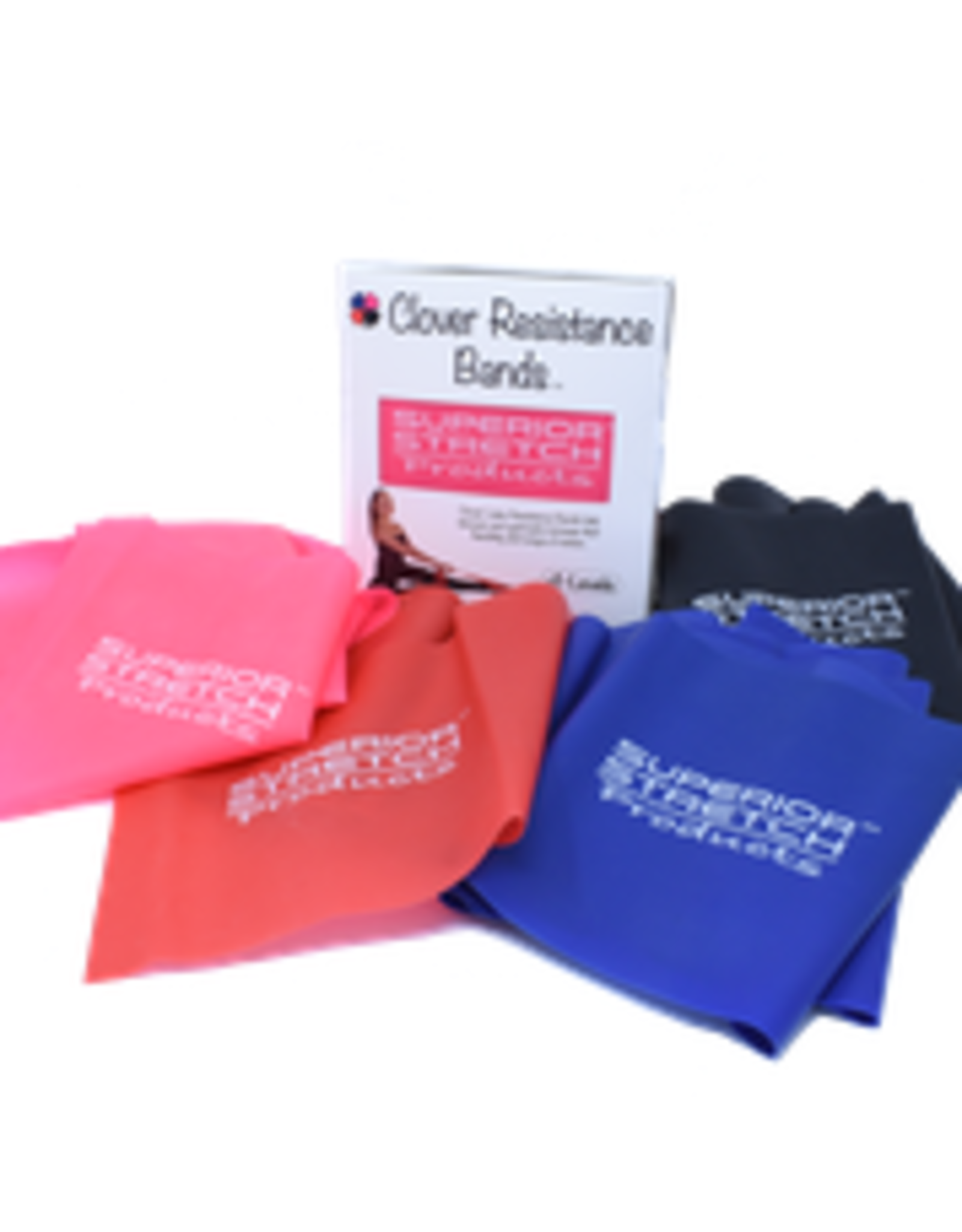 Superior Stretch Latex Rubber Therapy Bands 4-Box