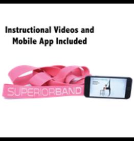 Superior Stretch Latex Stretch Loop Band – Pink