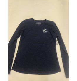 Island Surf & Sail Womens Breeze Tech L/S Navy Heathered