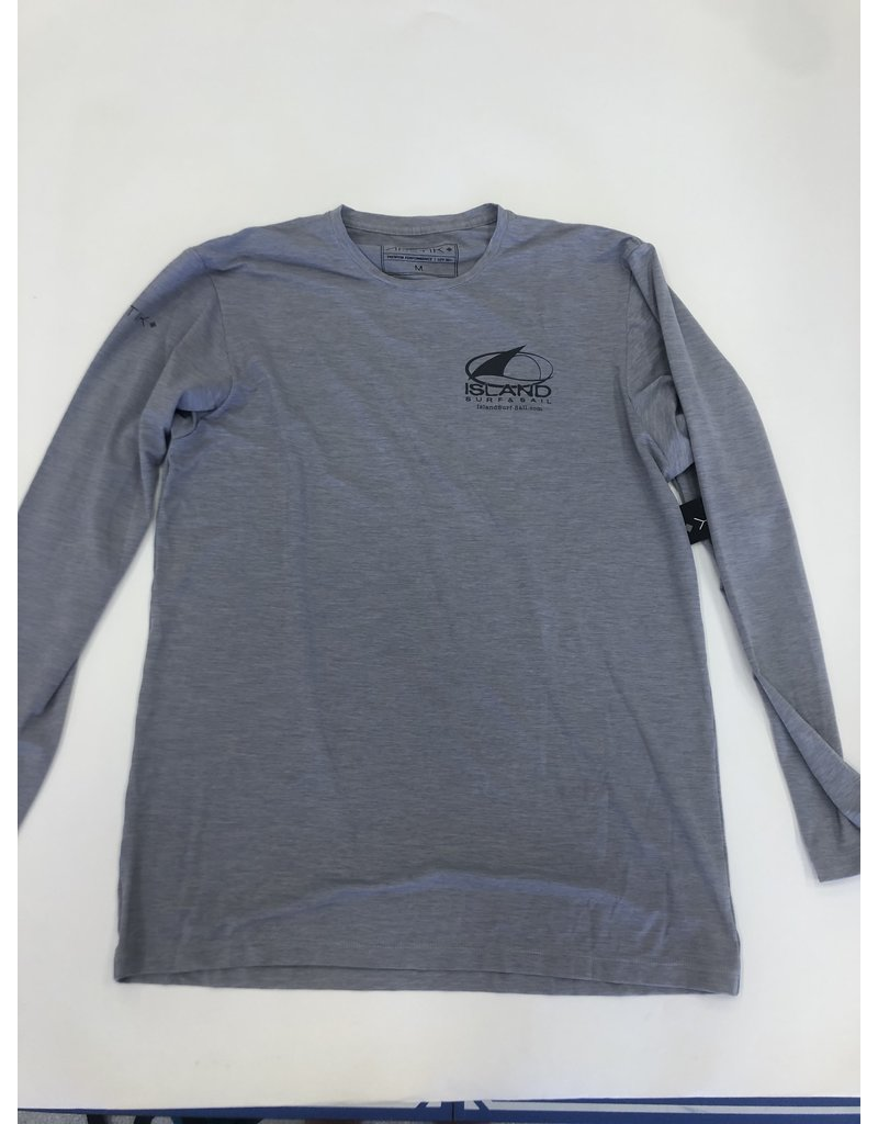 Island Surf & Sail Mens Low Pro Tech L/S Alloy Heathered