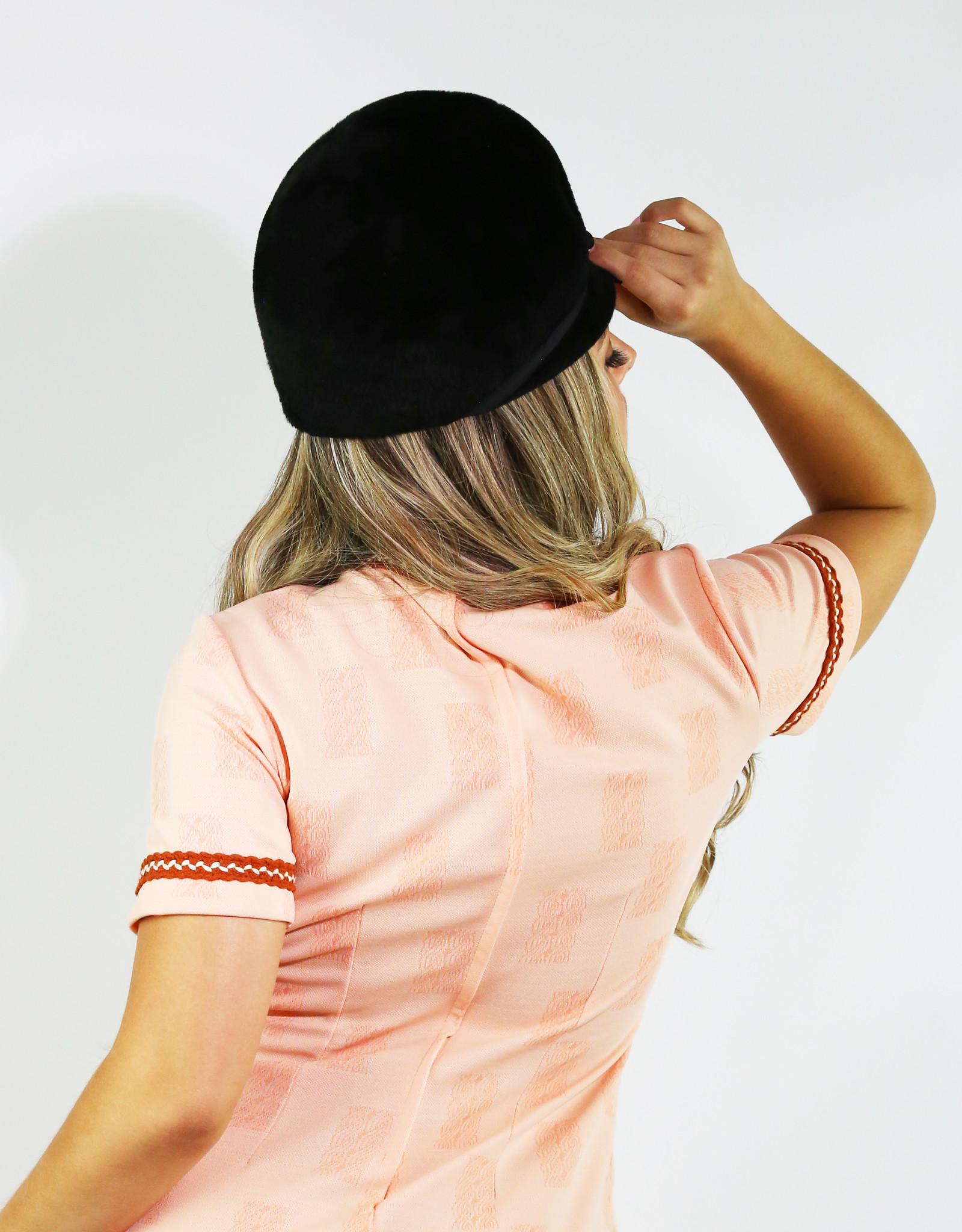 1960's Marshall Field Black Coche Hat