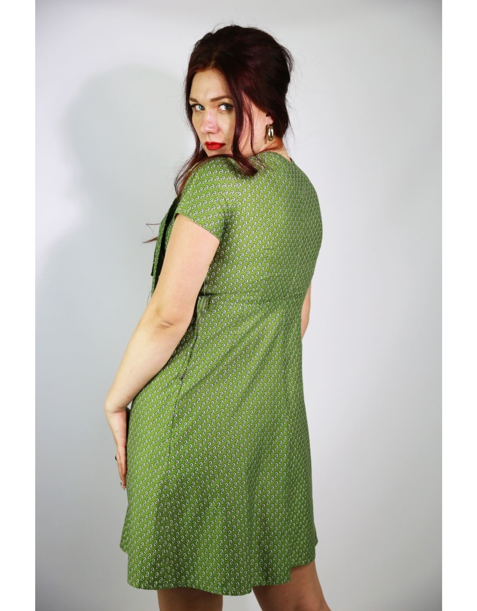 1940's Green Plus Size Day Dress