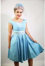 1940's Blue Cocktail Dress