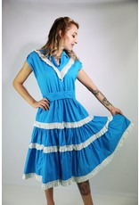 1940's Turquoise Square Dancing Dress