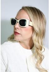 1960's Mod White Sunglasses