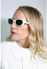 1980's White Cat Eye Sunglasses (NOS)