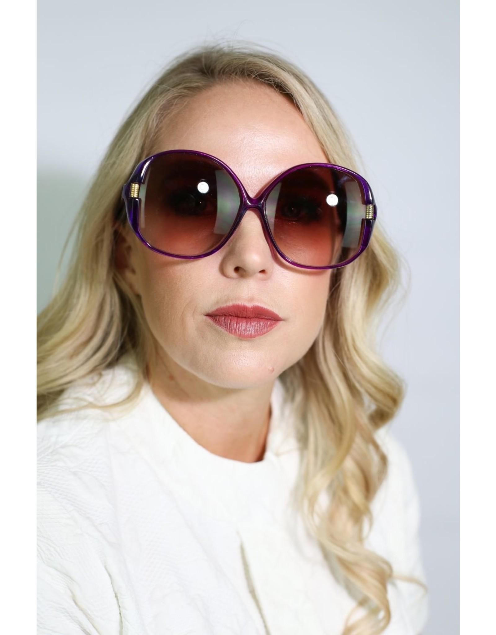 1960's Over-Sized Purple Sunglasses