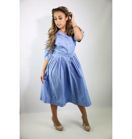 1940's Sky Blue Day Dress