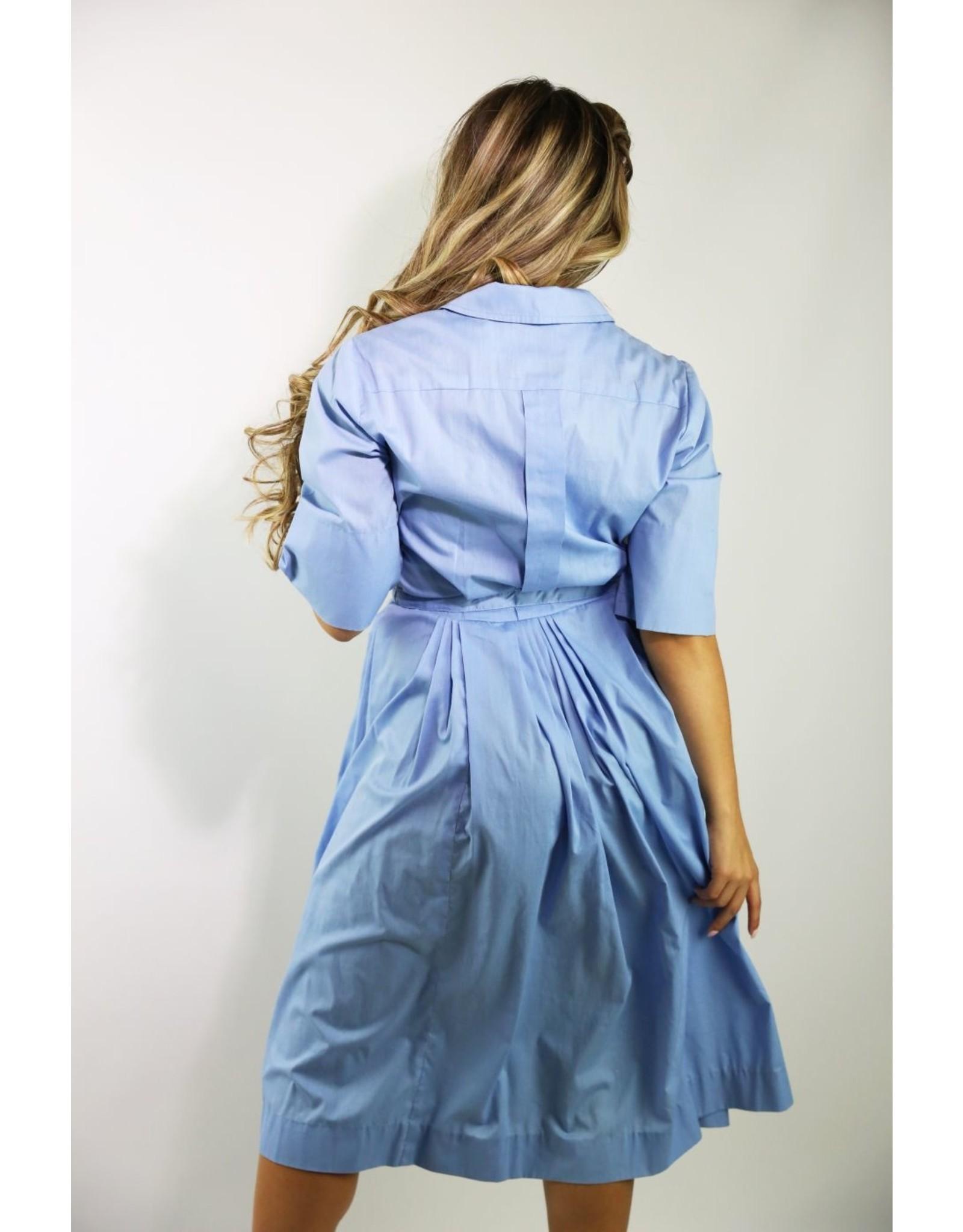 1940's Sky Blue Day Dress
