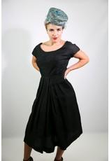 1950's Black Woven Party Dress