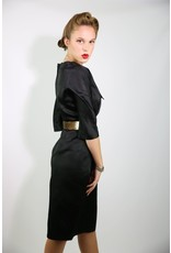 1950's Jet Black Wiggle dress