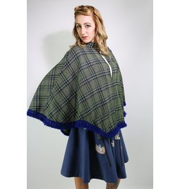 1950's Blue Plaid Capelette