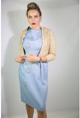 1950's Tan & Gold Lace Cardigan