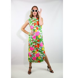 1960's Fruit Maxi Dress