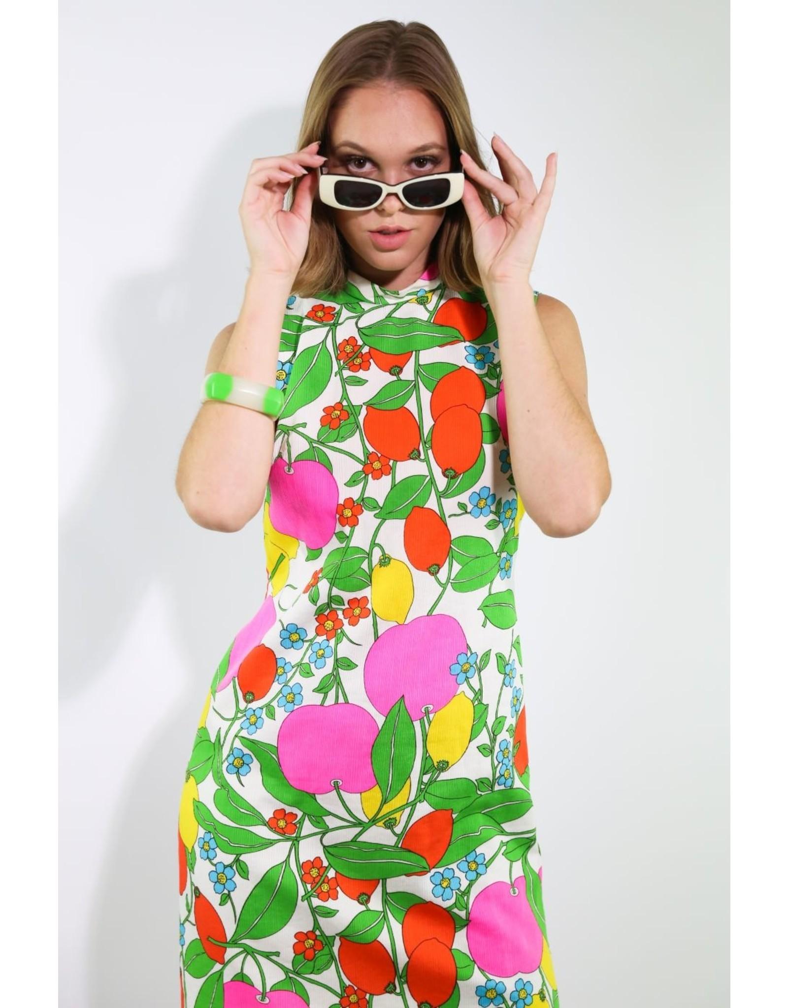 1960's Fruit Maxi Dress