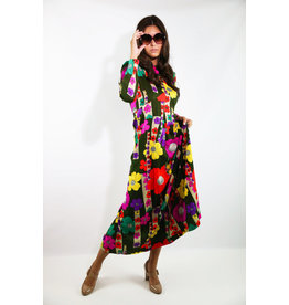1960's Flower Power Maxi Dress