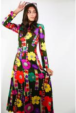 1960's Flower Power Maxi Dress