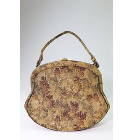 1960's Gold Brocade Carpet Bag