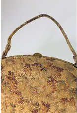 1960's Gold Brocade Carpet Bag