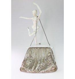 1960's Whiting and Davis Mesh Silver Handbag