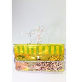 1980's Funky Yellow Plastic Purse