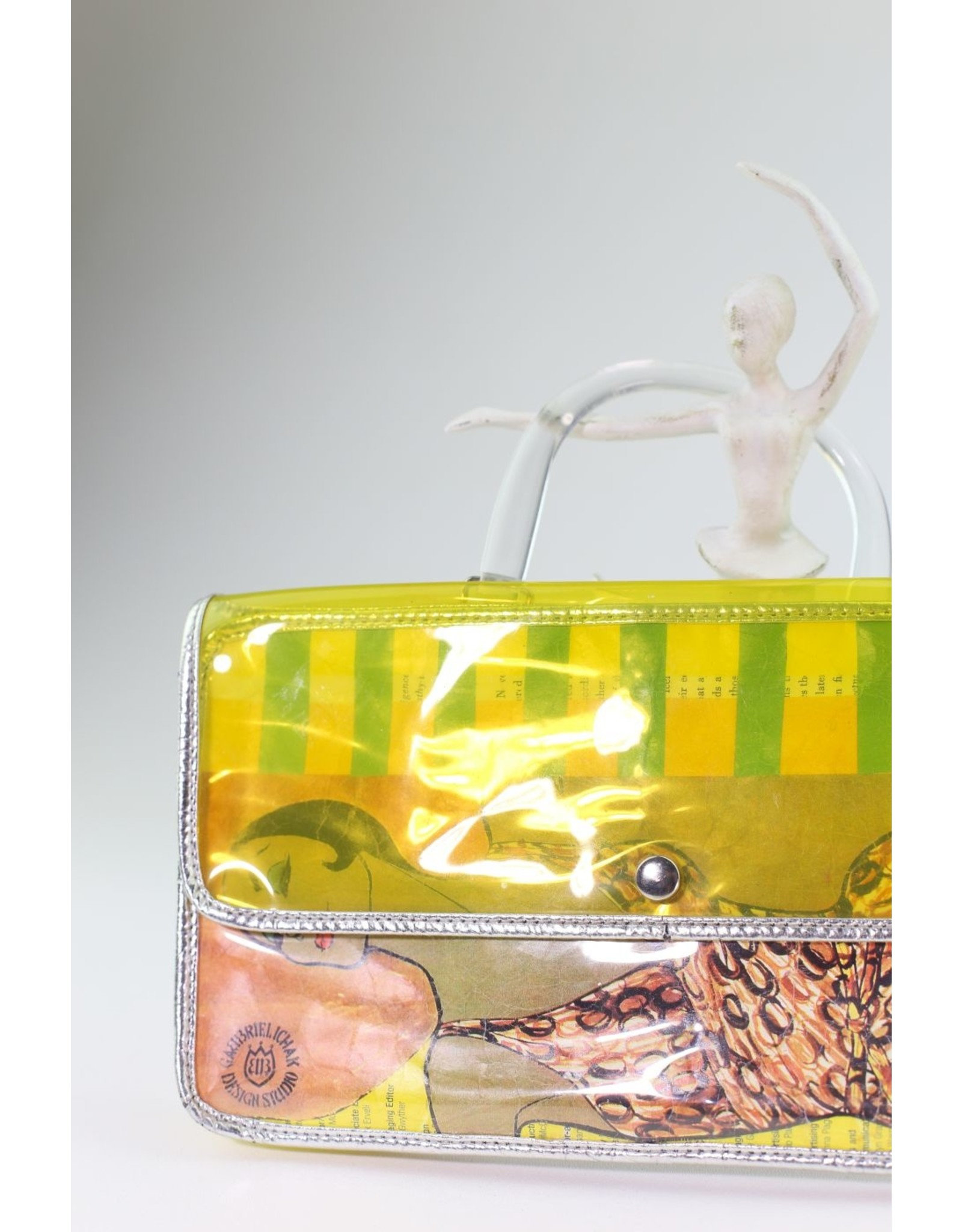 1980's Funky Yellow Plastic Purse