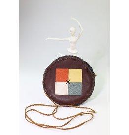 1970's Round Boho Leather Purse