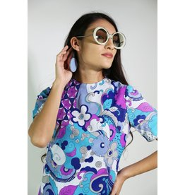 1960's Atomic Mod Sunglasses Blue (NOS)