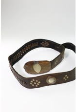 1970's Brown Leather Moroccan Belt