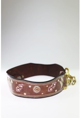 1970's Brown Leather Etched Belt