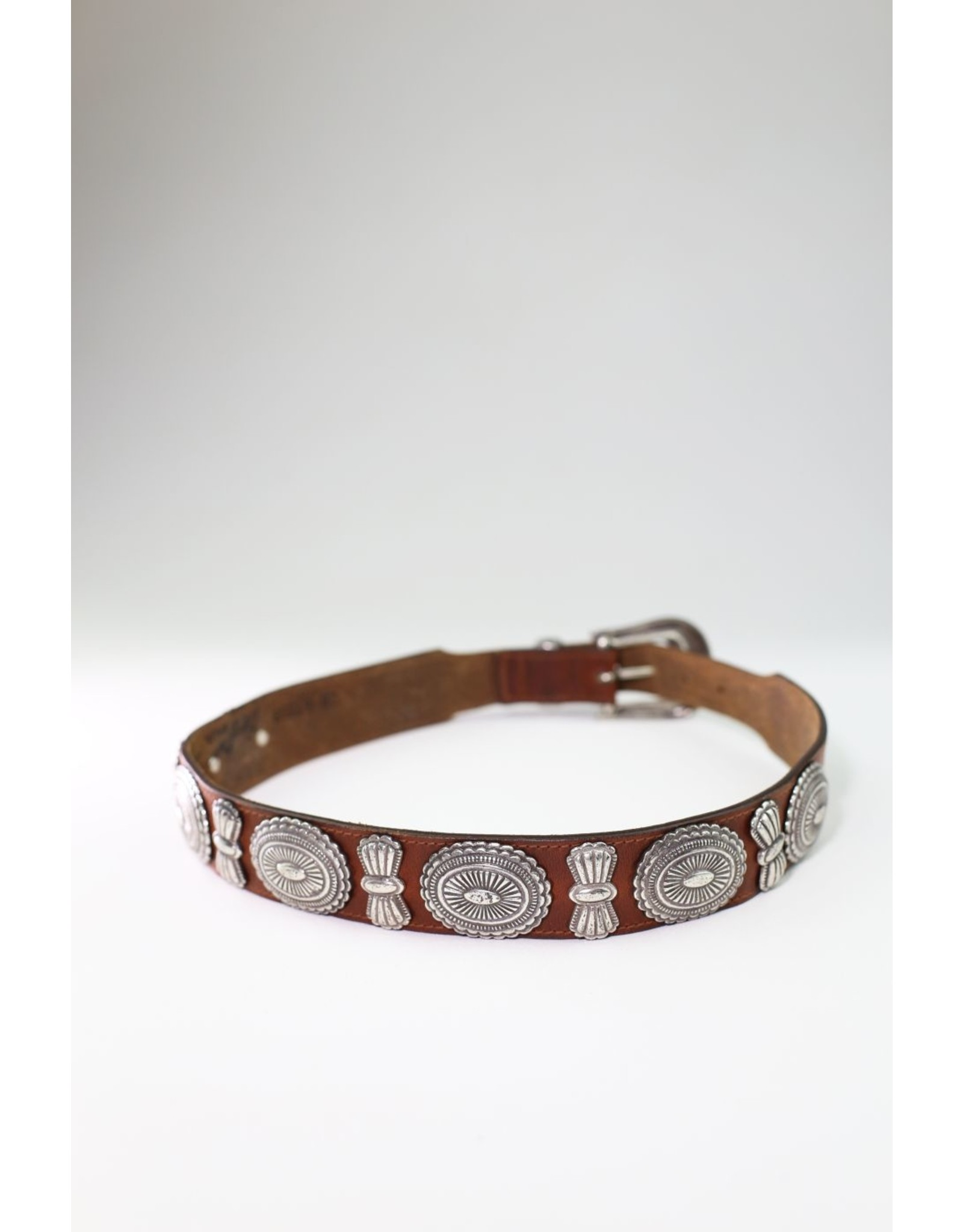 1980's Classic Western Brown Leather Belt