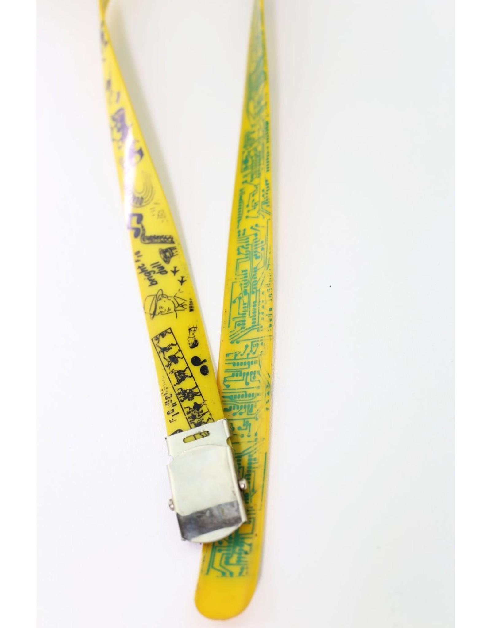 1980's Fiorucci Yellow Reversible Belt