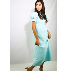 1960's Blue Baby Doll Maxi Dress